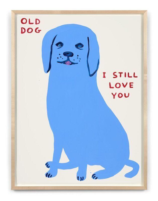 David Shrigley, 'Old Dog', 2021, Print, Screenprint on Somerset Tub Sized 400gsm paper, Marcel Katz Art