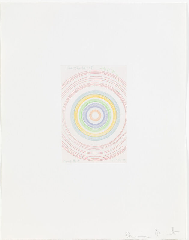 Damien Hirst, 'I saw the half of the moon (from In a Spin, the Action of the World on Things, Volume I)', 2002, Print, Etching in colours, Weng Contemporary
