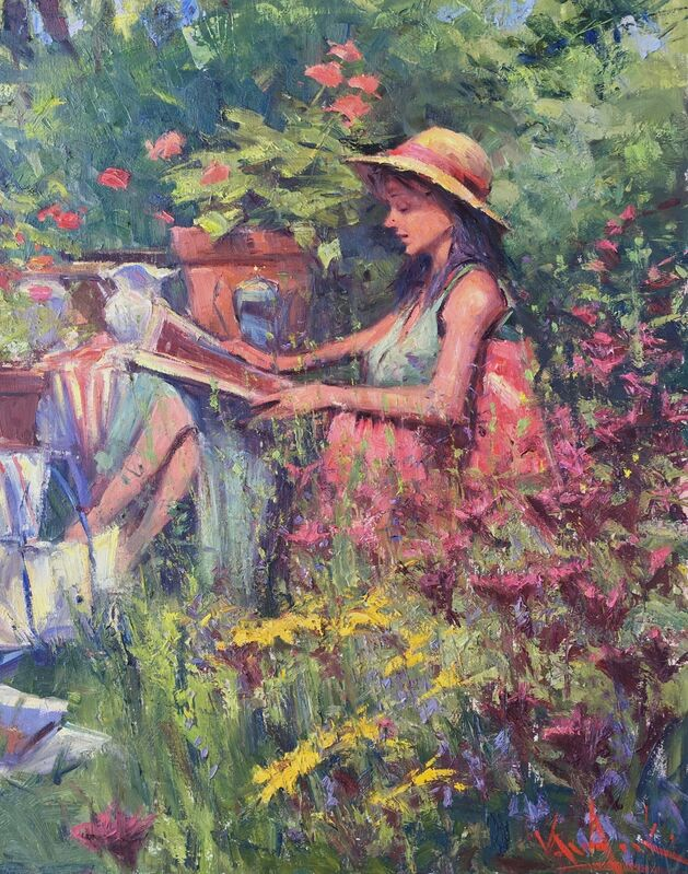 George Van Hook, 'The Sun Hat', ca. 2018, Painting, Oil on linen, Lily Pad West