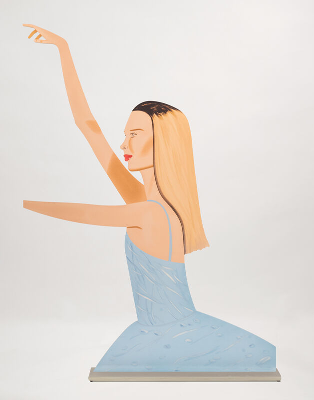 Alex Katz, 'Dancer 2 (Cutout)', 2020, Sculpture, Cutout from shaped powder-coated aluminum, printed the same on each side with UV cured archival inks, clear coated,and mounted to aluminum base, New Art Editions