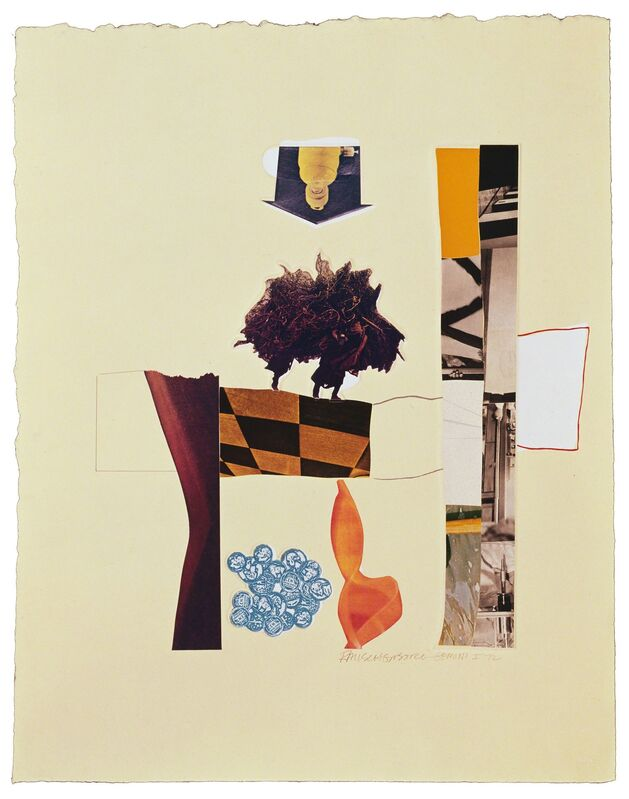 Robert Rauschenberg, 'Horsefeathers Thirteen-XIII', 1976, Print, Offset lithograph/screen/pochoir/collage/embossed, Gemini G.E.L.