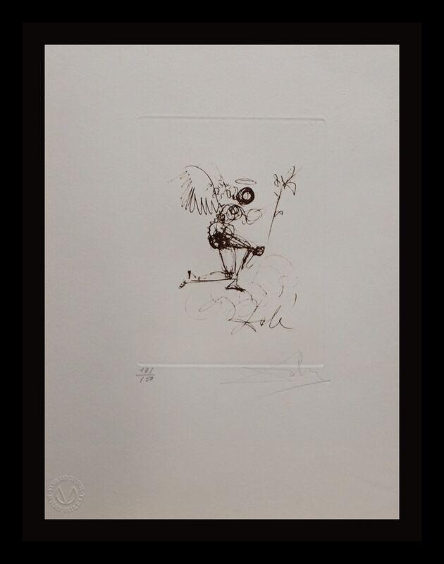 Salvador Dalí, 'Symbols Guiding Angel', 1970, Print, Etching, Fine Art Acquisitions Dali