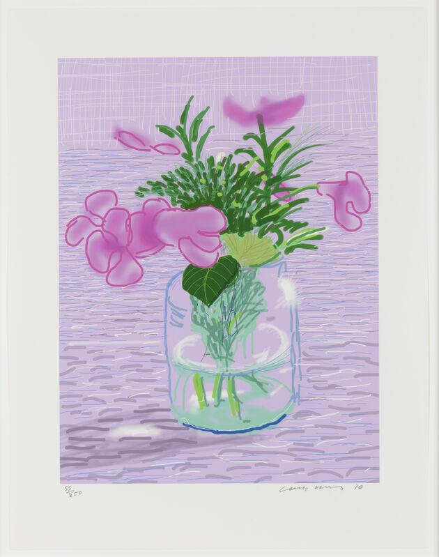 David Hockney, 'Untitled', 2010, Print, IPad drawing, Leslie Sacks Gallery