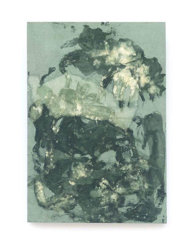 Amanda Millet-Sorsa, 'Springing', 2020, Painting, Chlorophyllyn, onion skin, and weld natural dye on cotton fabric, SHIM Art Network