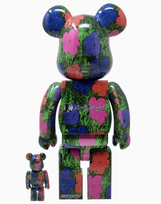 Andy Warhol, 'Andy Warhol Flowers 400% Bearbrick Figure Set ', 2020, Ephemera or Merchandise, Vinyl figure, Lot 180