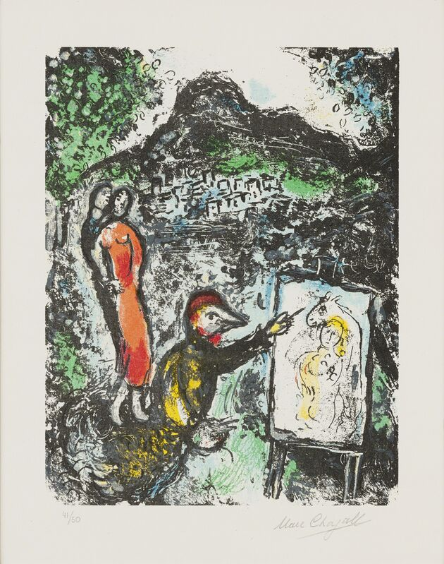 Marc Chagall, 'Devant St.-Jeannet', 1972, Print, Lithography, Galerie Bromer