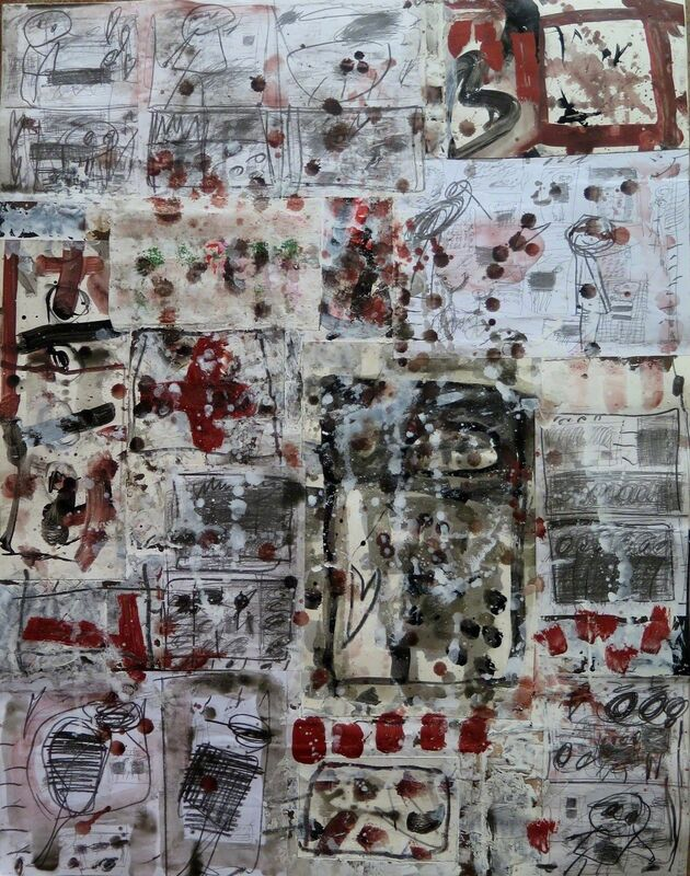 Vigintas Stankus, 'Collage VII', 2015, Drawing, Collage or other Work on Paper, Pencil ink acrylic on paper, Spotte Art