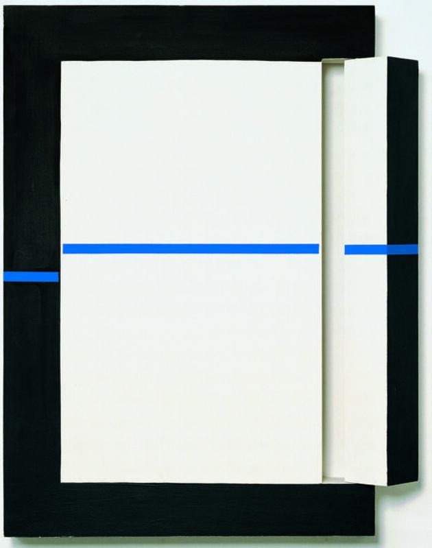 Edward Krasinski, 'Intervention', 1995, Mixed Media, Acrylic, plywood and blue Scotch tape, Loevenbruck