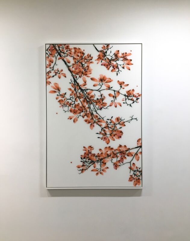 Jackie Battenfield, 'Coral Fling', 2018, Painting, Acrylic on mylar mounted on acrylic panel, Kenise Barnes Fine Art