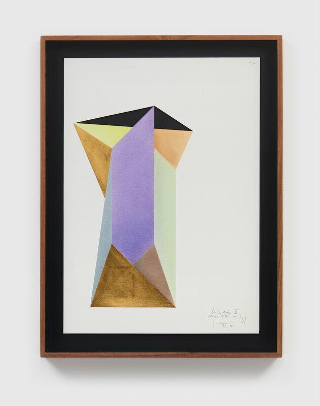 Jorinde Voigt, 'Kaleidoskop V', 2020-21, Mixed Media, Gold leaf, pastel, and graphite on paper, David Nolan Gallery