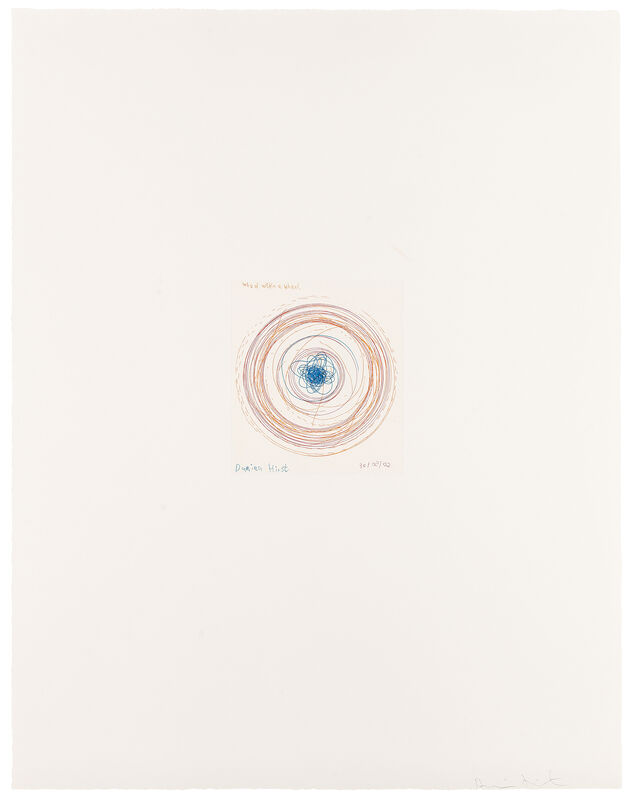 Damien Hirst, 'Wheel within a wheel (from In a Spin, the Action of the World on Things, Volume I)', 2002, Print, Etching in colour, Weng Contemporary