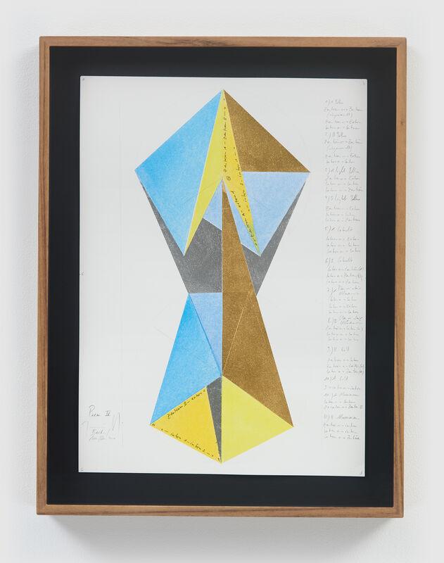 Jorinde Voigt, 'Poem IV', 2020, Mixed Media, Gold leaf, aluminum leaf, pastel, and graphite on paper, David Nolan Gallery