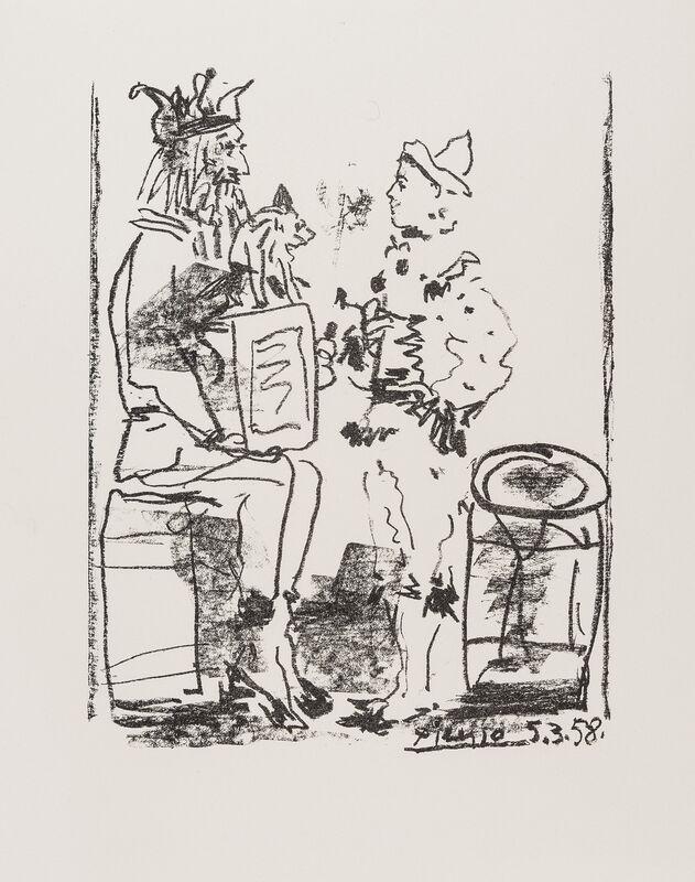 Pablo Picasso, 'Les Saltimbanques', 1959, Print, Crayon lithograph, Forum Auctions