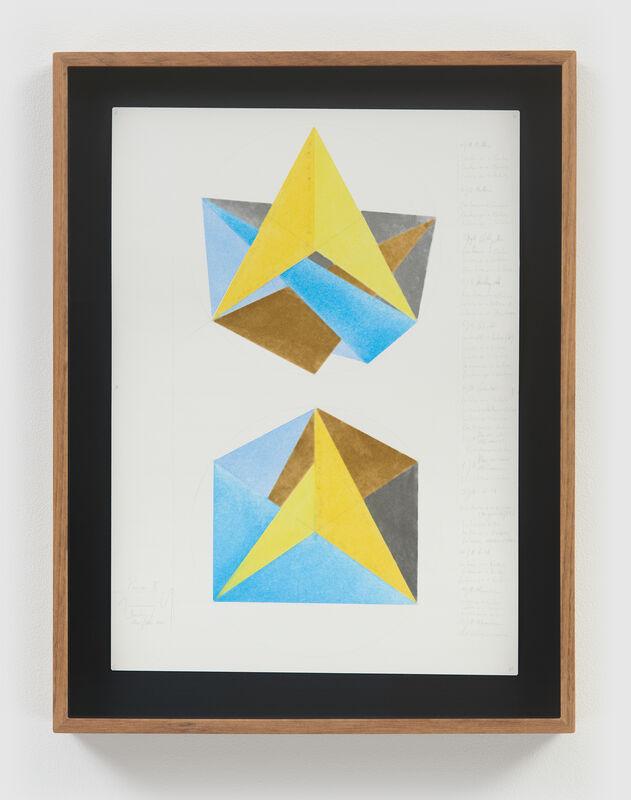 Jorinde Voigt, 'Poem II ', 2020, Mixed Media, Gold leaf, aluminum leaf, pastel, and graphite on paper, David Nolan Gallery