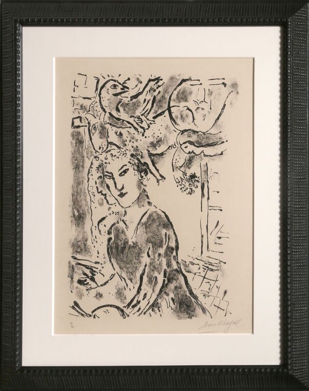 Marc Chagall, 'Self Portrait at the Window', 1957, Print, Lithograph on Arches paper, RoGallery Gallery Auction