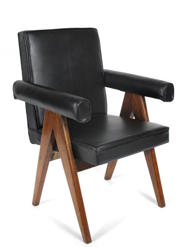 Pierre Jeanneret, 'Leather Armchairs', 1952-1956, Design/Decorative Art, Teak, Leather, Patrick Parrish Gallery