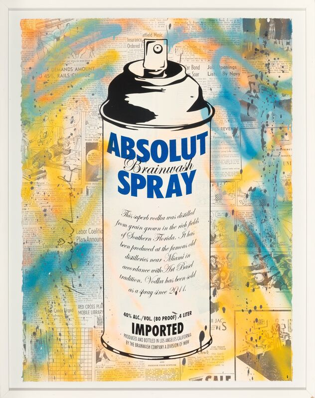 Mr. Brainwash, 'Absolut Spray', 2010, Print, Screenprint in colors with spray paint on paper, Heritage Auctions