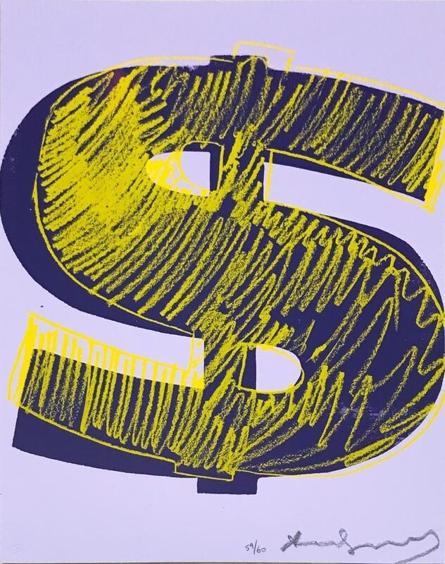 Andy Warhol, '(UNIQUE) Dollar Sign F&S.II.276', 1982, Print, Screen-print on Lenox Museum Board, Reuben Colley Fine Art