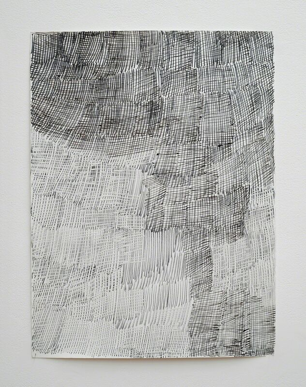 Nyapanyapa Yunupingu, 'Djorra (paper) 17', 2014, Drawing, Collage or other Work on Paper, Felt tip pen, earth pigments on discarded print proofs, Roslyn Oxley9 Gallery