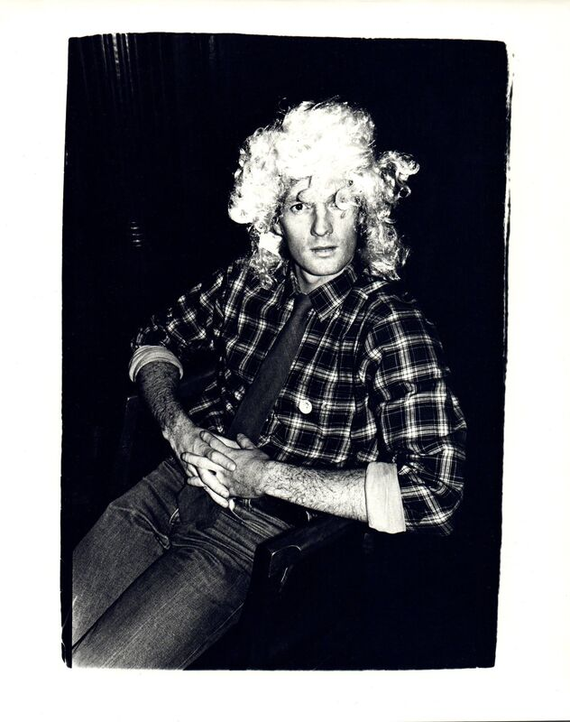 Andy Warhol, 'Andy Warhol, Photograph of an Unidentified Man Wearing a Wig circa 1980', ca. 1980, Photography, Silver gelatin print, Hedges Projects