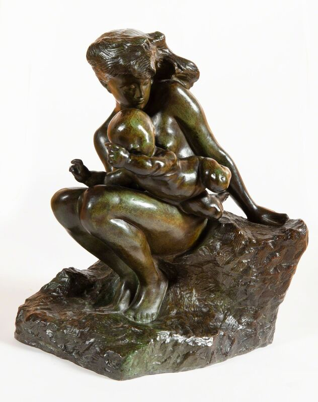 Auguste Rodin, 'L'amour qui passe', ca. 1896, Sculpture, Bronze with green patina, BAILLY GALLERY