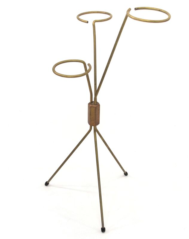 Carl Auböck, 'Cane Stand', ca. 1950, Design/Decorative Art, Brass and wood cane, Patrick Parrish Gallery