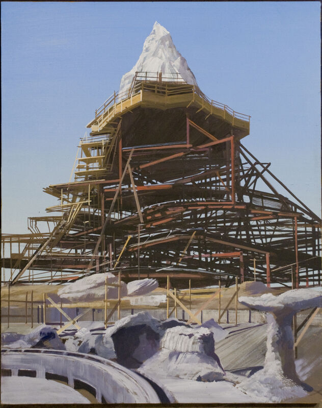 Adam Cvijanovic, 'Magic Mountain', 2010, Painting, Oil on board, Postmasters Gallery