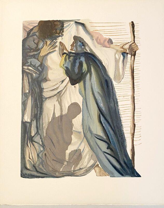 Salvador Dalí, 'La Divine Comédie - Purgatoire 14 - Un esprit interroge Dante', 1963, Print, Original wood engraving on BFK Rives paper, Samhart Gallery