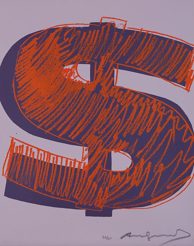 Andy Warhol, '$(1)', 1982, Print, Unique screenprint in colors, on Lenox Museum board, the full sheet., Phillips