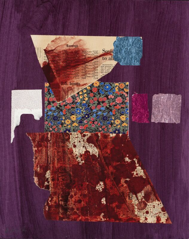Dorothy Hood, 'U.S. Bonds', 1982-1997, Drawing, Collage or other Work on Paper, Collage on mat, McClain Gallery