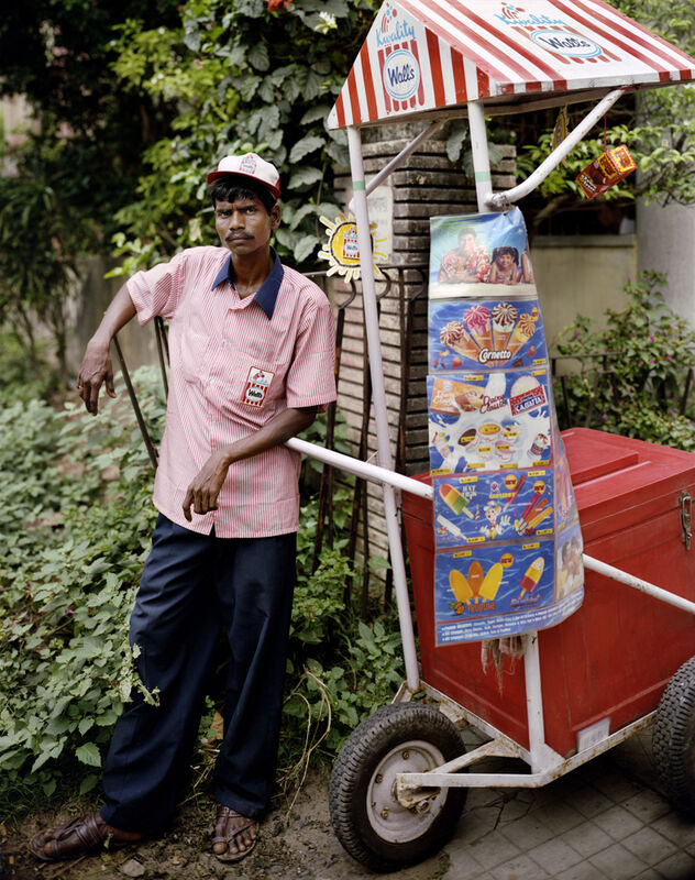 Laura McPhee, 'Ganesh Das, Ice Cream Man, Jodhpur Park, Kolkata', 1998, Photography, Archival pigment ink print, Benrubi Gallery