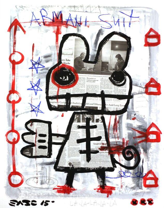Gary John, 'Armani Suit', 2015, Painting, Acrylic, Mixed Media on Board, Artspace Warehouse