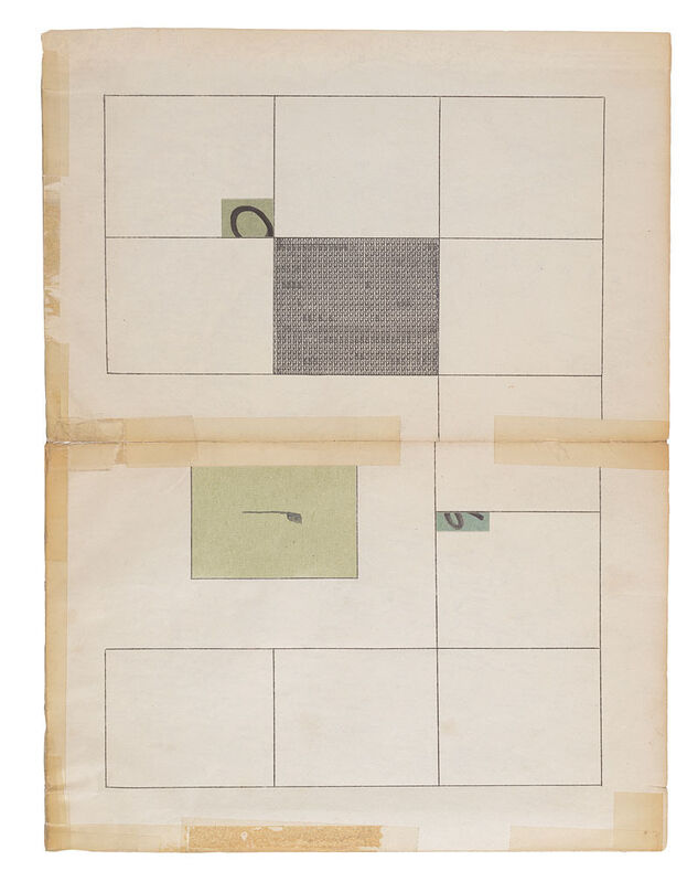 Jacob Whibley, 'there are no soloists in a fugue (1959-2013) II', 2013, Drawing, Collage or other Work on Paper, Ink, graphite and ephemera on paper, Narwhal Projects