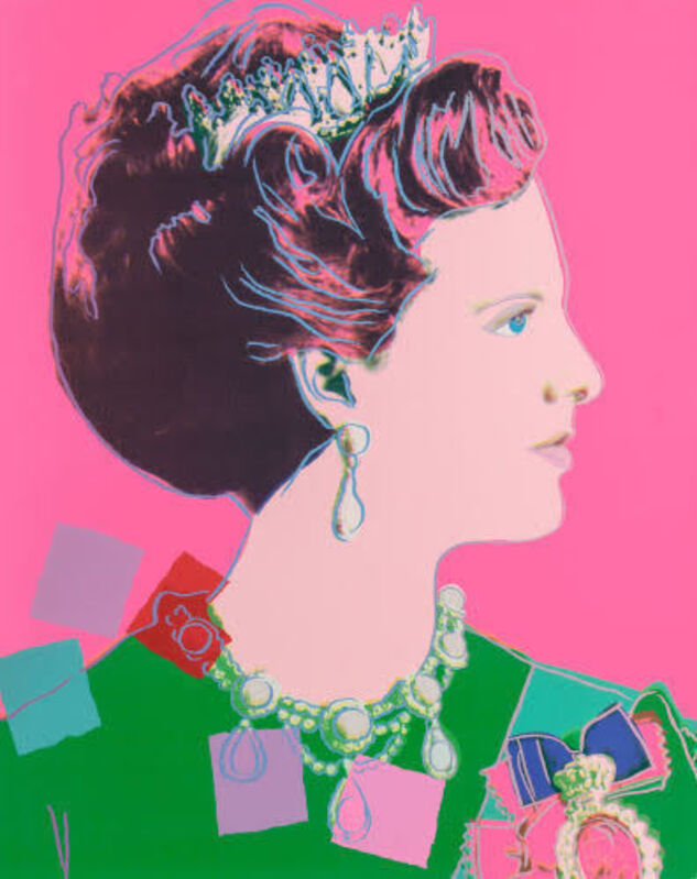 Andy Warhol, 'Queen Margrethe II, pink background (from Reigning Queens)', 1985, Print, Screenprint in colors on Lenox Museum Board, Fine Art Auctions Miami