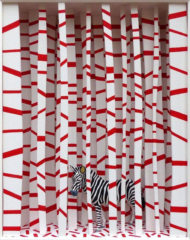 Volker Kühn, 'The Garden of Buren', Mixed Media, Mixed media, Plus One Gallery