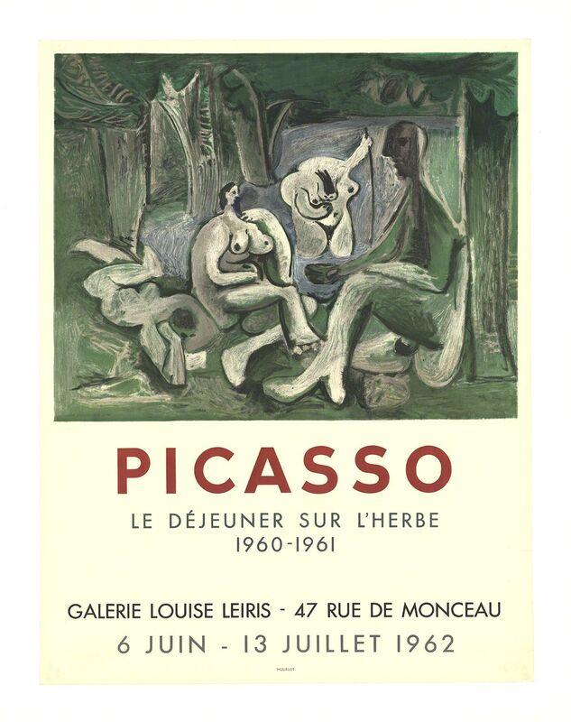 Pablo Picasso, 'Le Dejeuner Sur L'Herbe', 1962, Print, Stone Lithograph, ArtWise