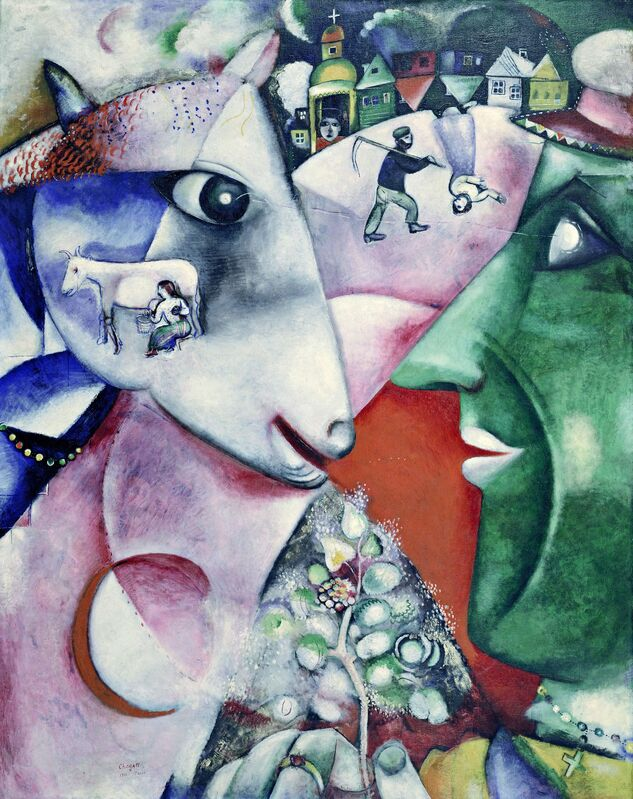 Marc Chagall, 'I and the Village ', 1911 , Painting, Kunstmuseum Basel