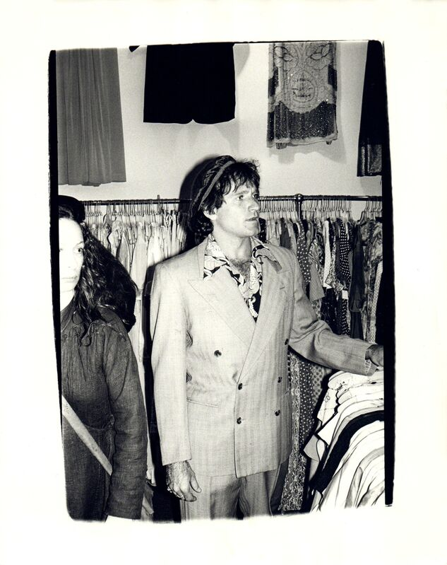 Andy Warhol, 'Andy Warhol, Photograph of Robin Williams at a Thrift Store in the Village, 1979', 1979, Photography, Silver gelatin print, Hedges Projects