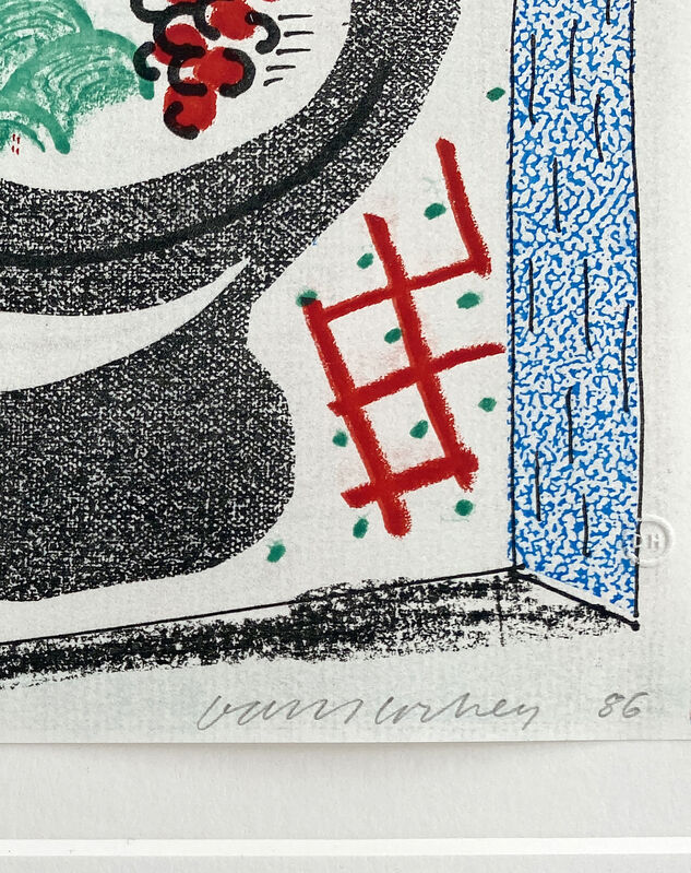David Hockney, 'Bowl of Fruit', 1986, Print, Home made print on 120g Arches rag paper executed on an office colour copy machine, ARCHEUS/POST-MODERN Gallery Auction
