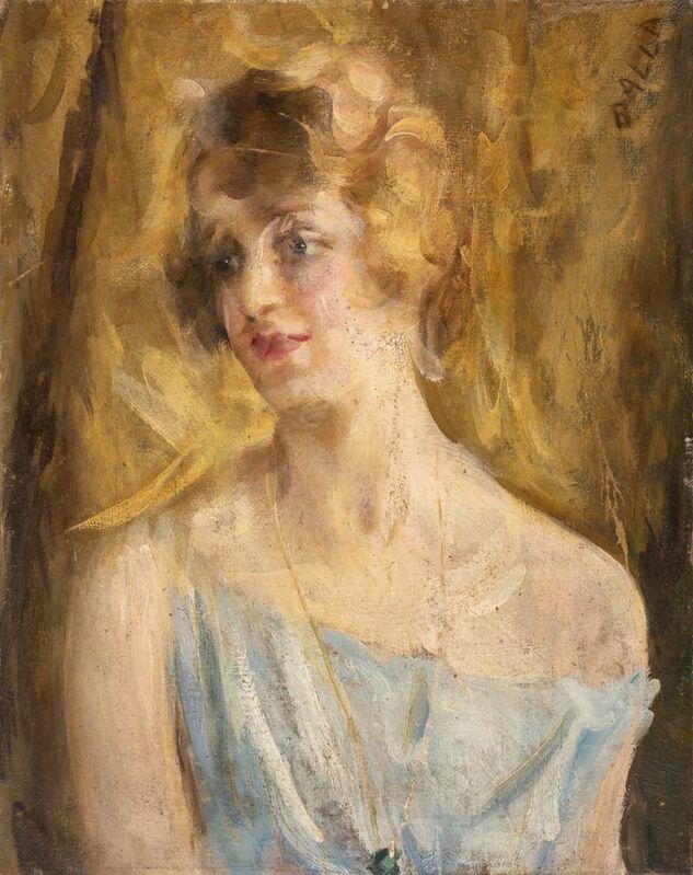 Giacomo Balla, 'Ritratto Femminile', 1922 circa, Painting, Oil on canvas on cardboard, Itineris