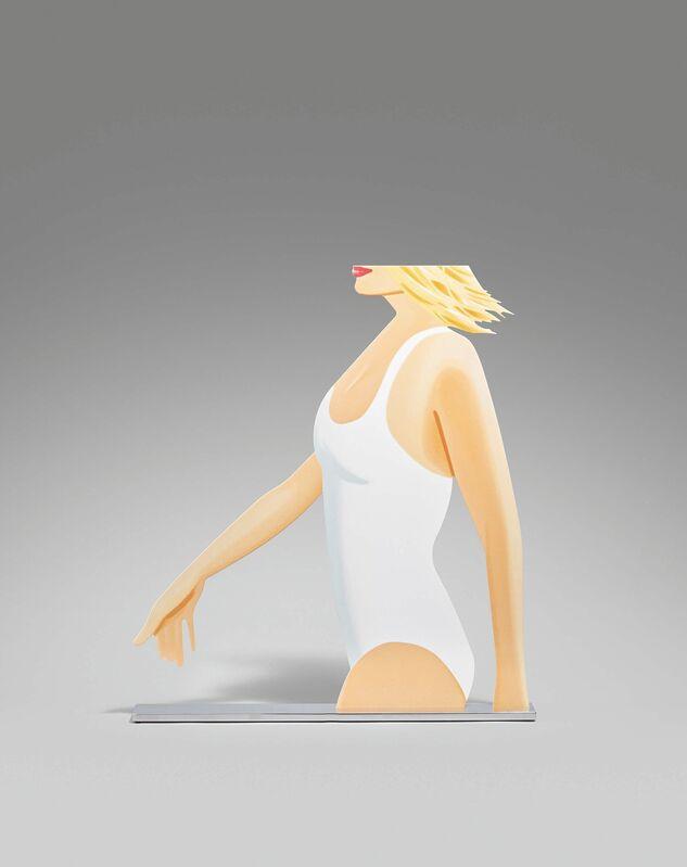 Alex Katz, 'Coca Cola Girl', 2019, Sculpture, Colour silkscreen on molded aluminium, printed on both sides, painted and mounted on polished aluminium plinth, Van Ham