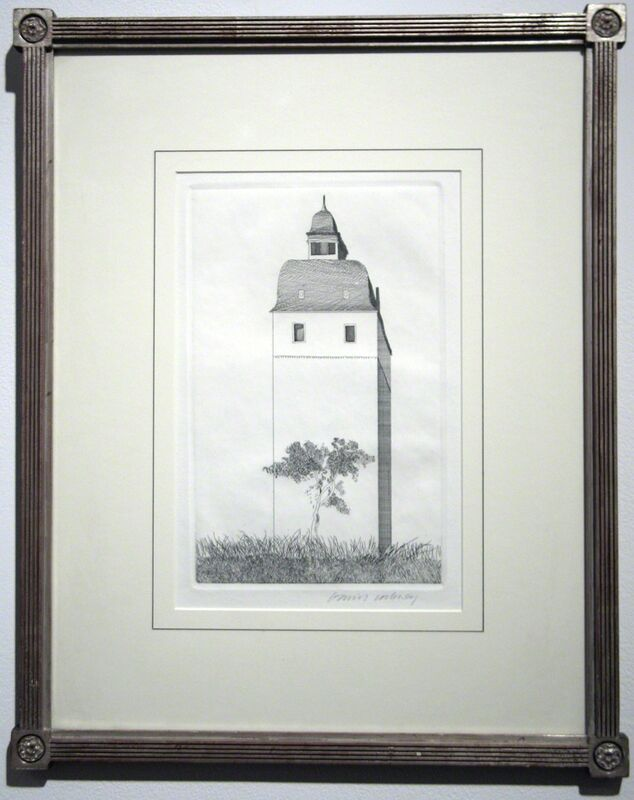 David Hockney, 'The Bell Tower', 1969, Print, Etching and aquatint on paper, Woodward Gallery