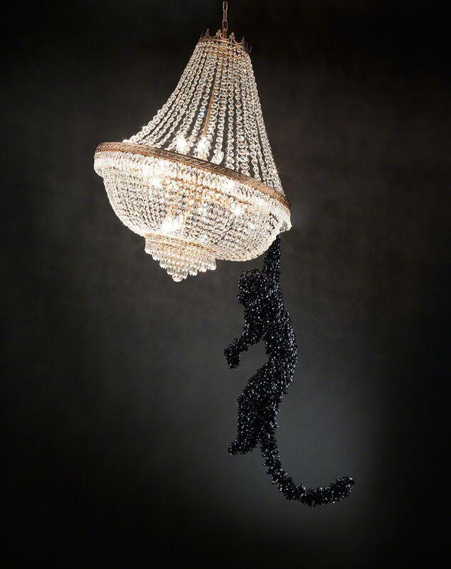 Barnaby Barford, 'Chandelier 'Jungle VIP'', 2014, Sculpture, Crystal, glass, David Gill Gallery