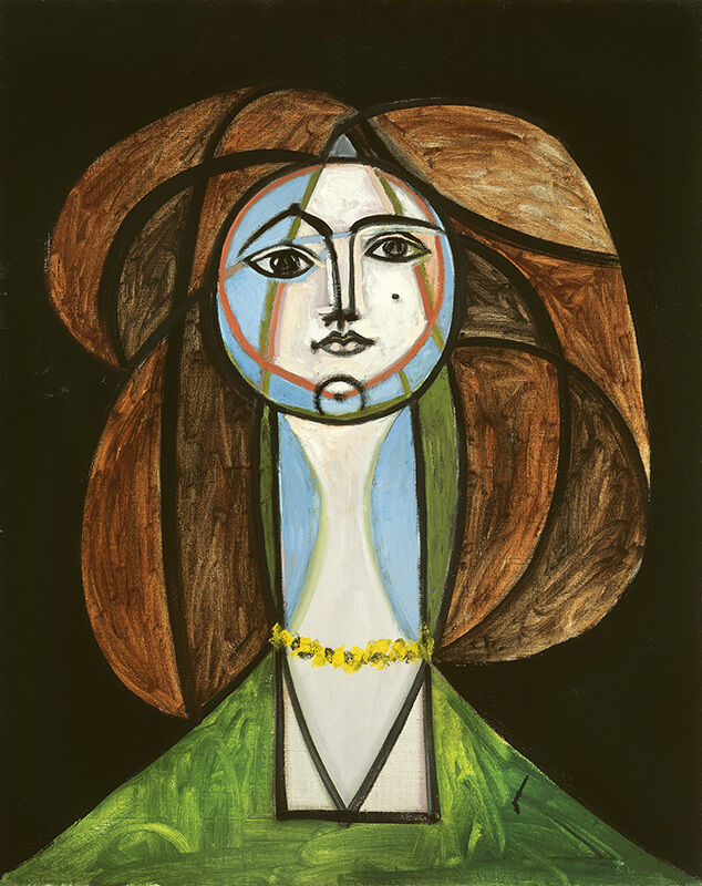 Pablo Picasso, 'Femme au collier jaune', May 31-1946, Painting, Oil on canvas, Vancouver Art Gallery