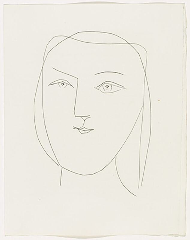 Pablo Picasso, 'Oval Head of a Woman with Piercing Eyes (Plate XXI)', 1949, Print, Original etching on Montval wove paper, Georgetown Frame Shoppe