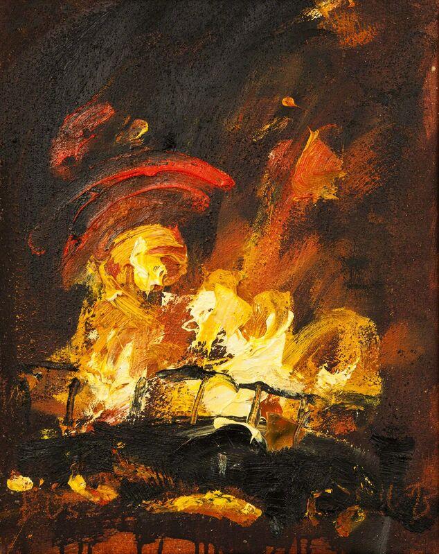 John Keane, 'Bus (2)', 1993, Painting, Oil on canvas, Flowers