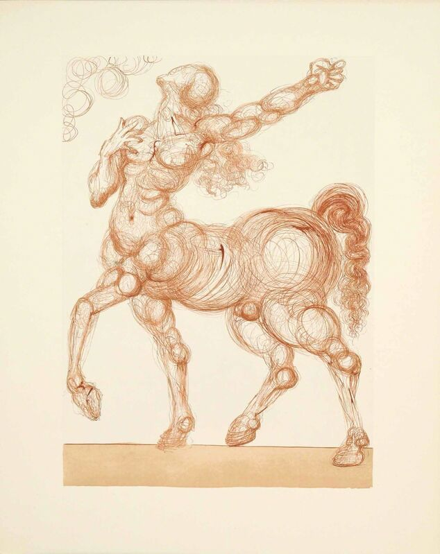 Salvador Dalí, 'Hell Canto 26 (The Divine Comedy)', Print, Wood Engraving, Martin Lawrence Galleries