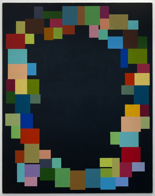 Jon Thompson, 'Donnes Crosse: Meridians Crossing Parallels', 2013, Painting, Acrylic and oil on canvas, Anthony Reynolds Gallery
