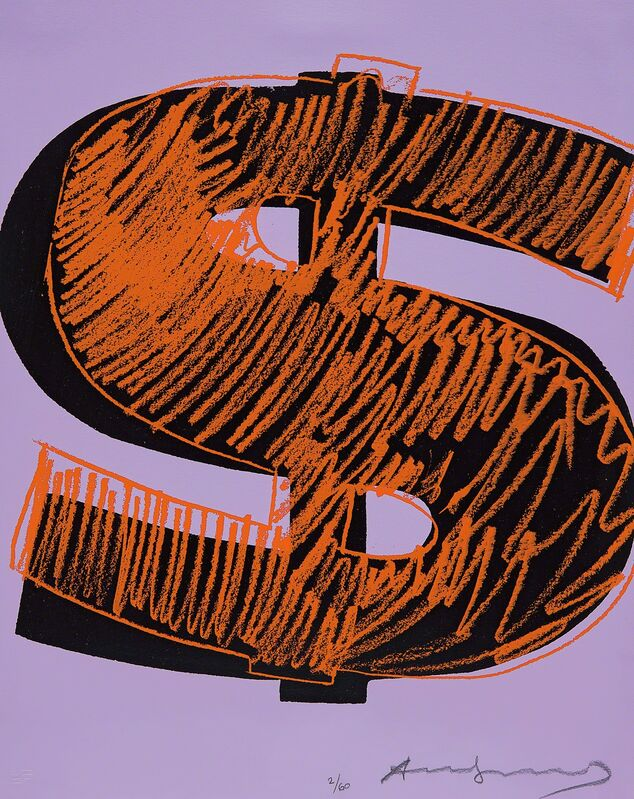 Andy Warhol, '$(1)', 1982, Print, Unique screenprint in colours, on Lenox Museum board, the full sheet., Phillips