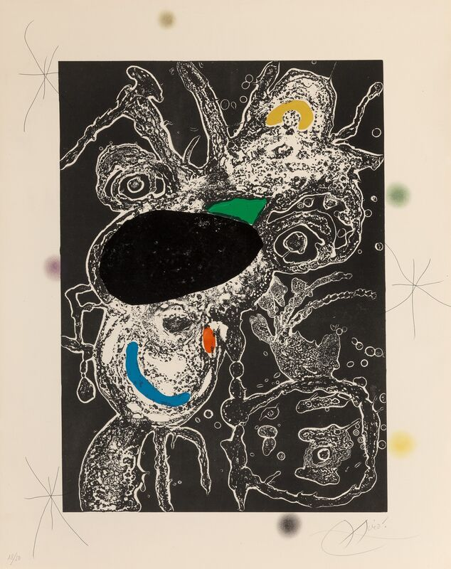 Joan Miró, 'Espriu', 1975, Print, Aquatint with engraving, etching and carborundum in colors on Guarro paper, Heritage Auctions